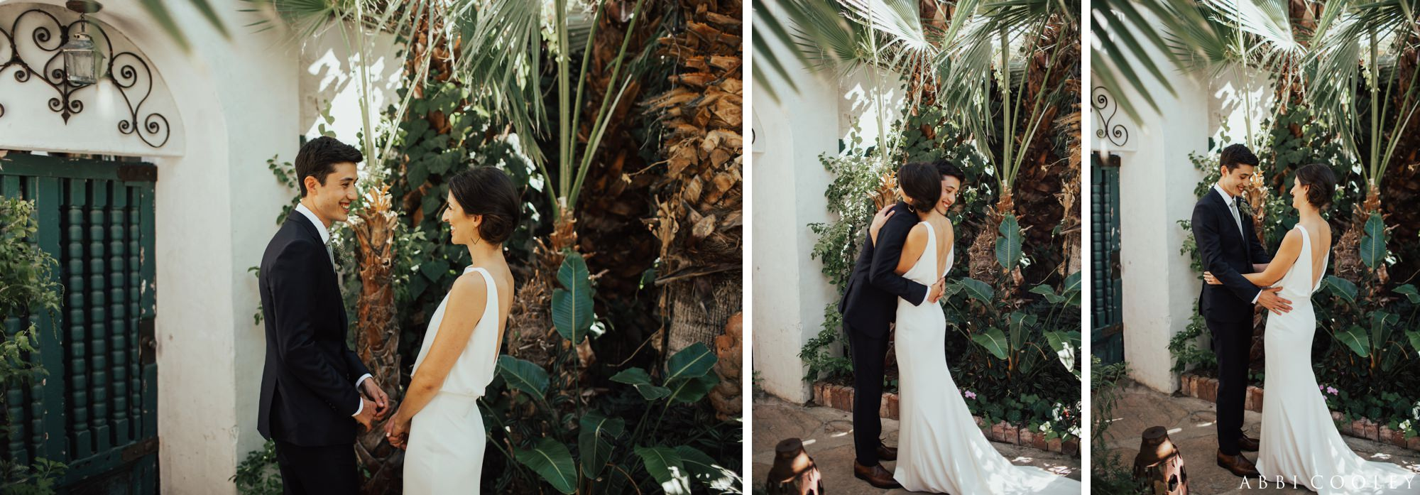 First look Casa de Monte Vista Palm Springs Wedding