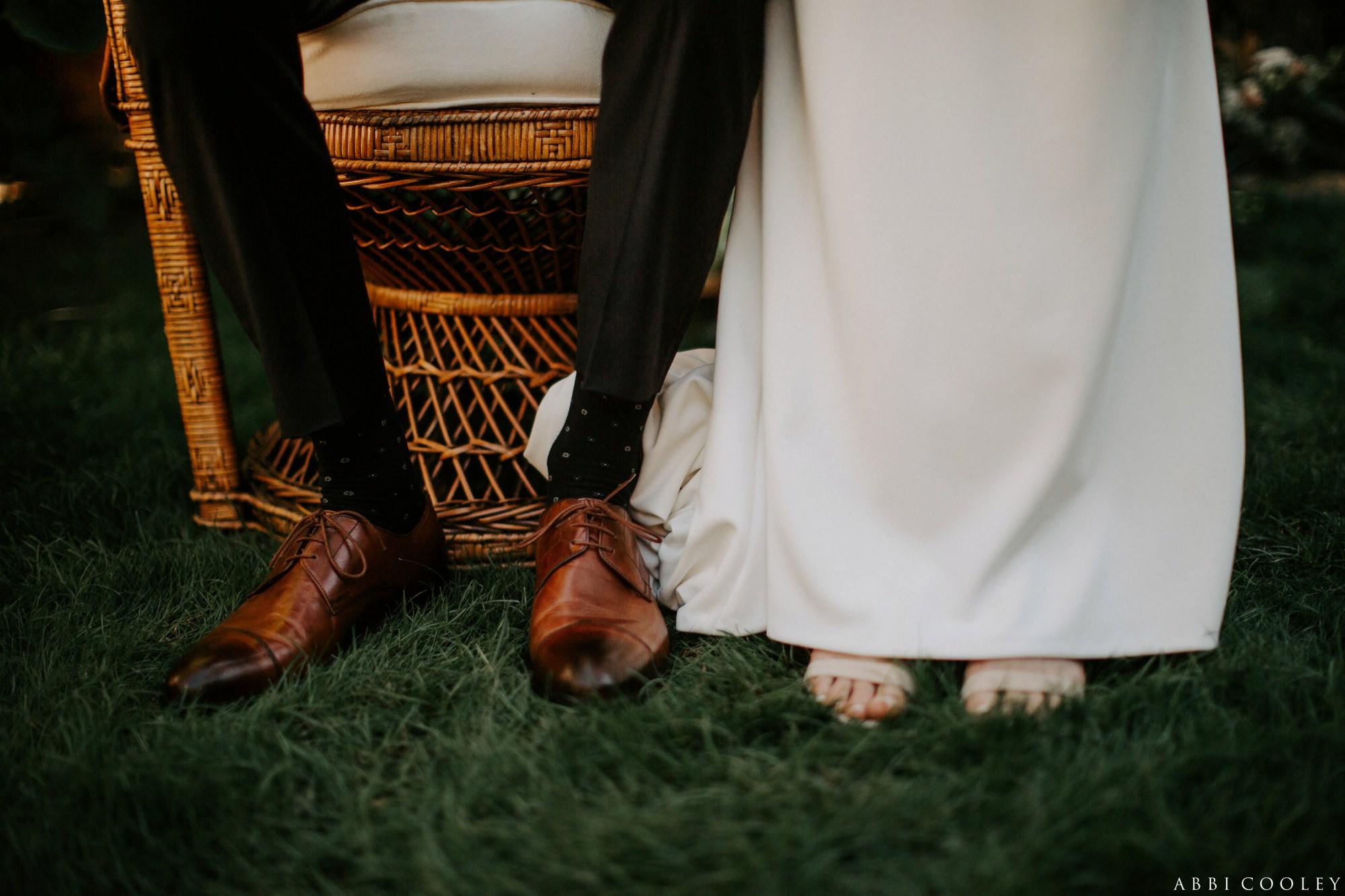 bride and groom shoes shot Casa de Monte Vista Palm Springs Wedding
