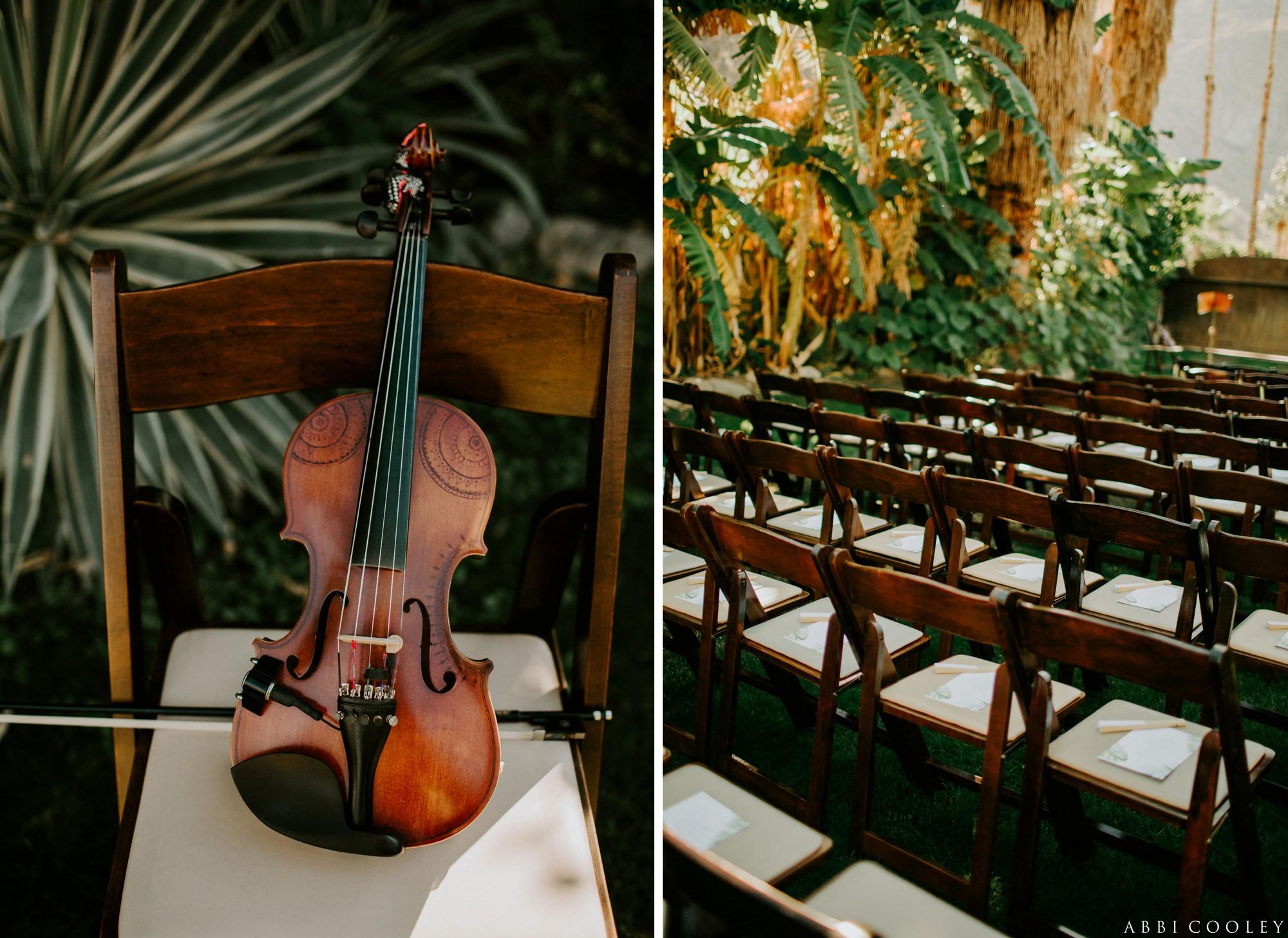 violin wedding Casa de Monte Vista Palm Springs Wedding