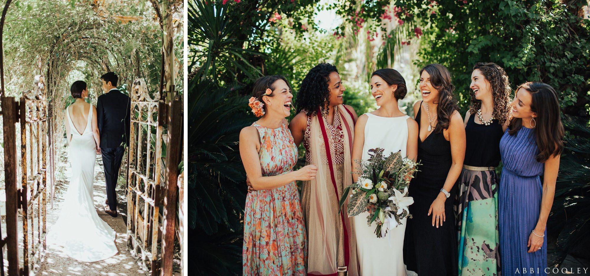 mix and match bridesmaids dresses Casa de Monte Vista Palm Springs Wedding