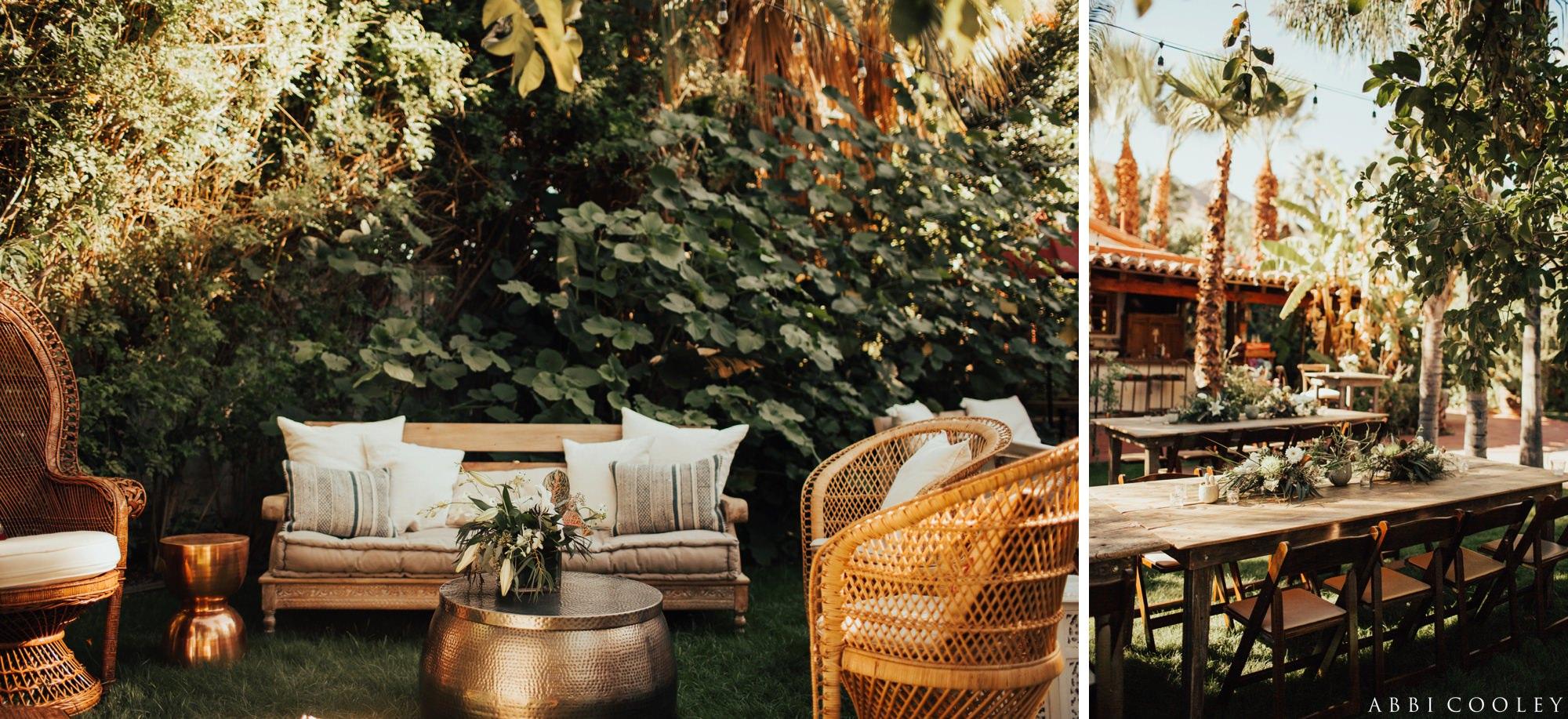 boho palm springs wedding Casa de Monte Vista Palm Springs Wedding