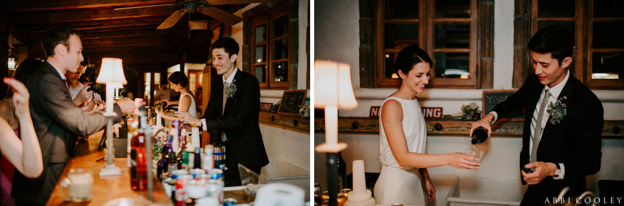 cocktail hour palm springs Casa de Monte Vista Palm Springs Wedding