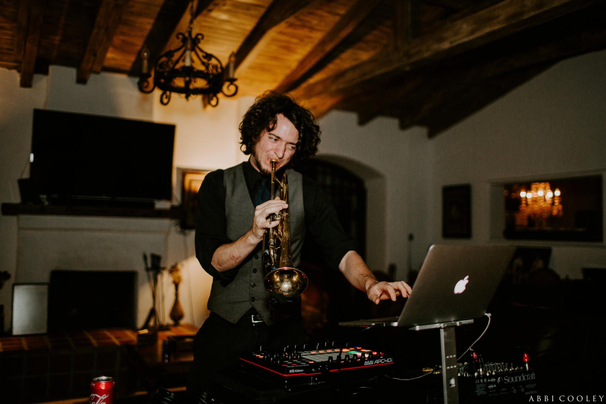trumpet Casa de Monte Vista Palm Springs Wedding