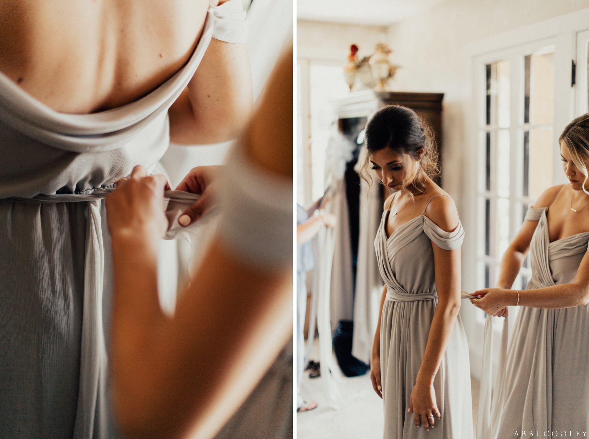 off the shoulder bridesmaid dress Oak Hill Farms Wedding
