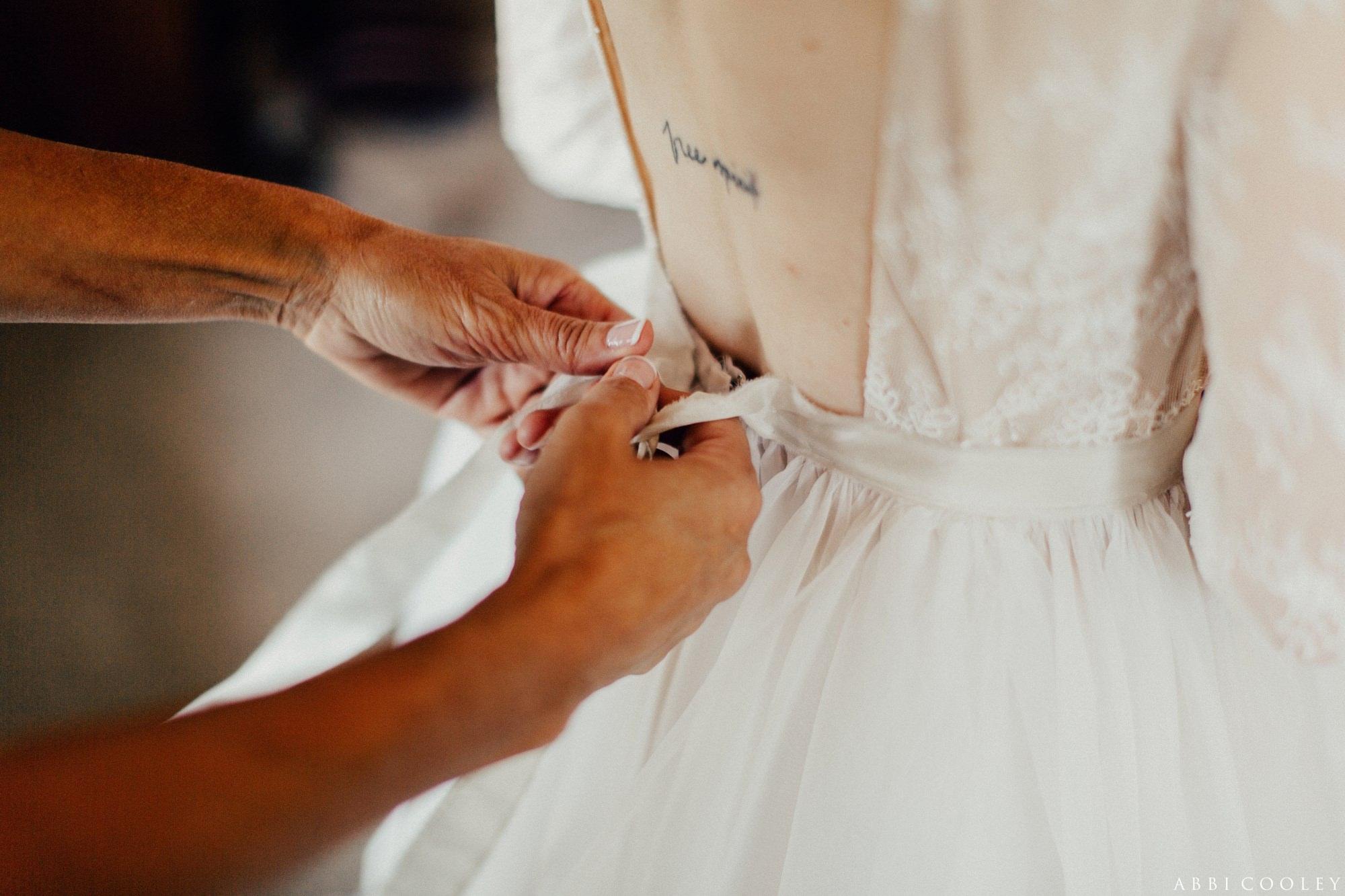 lace wedding gown Oak Hill Farms Wedding