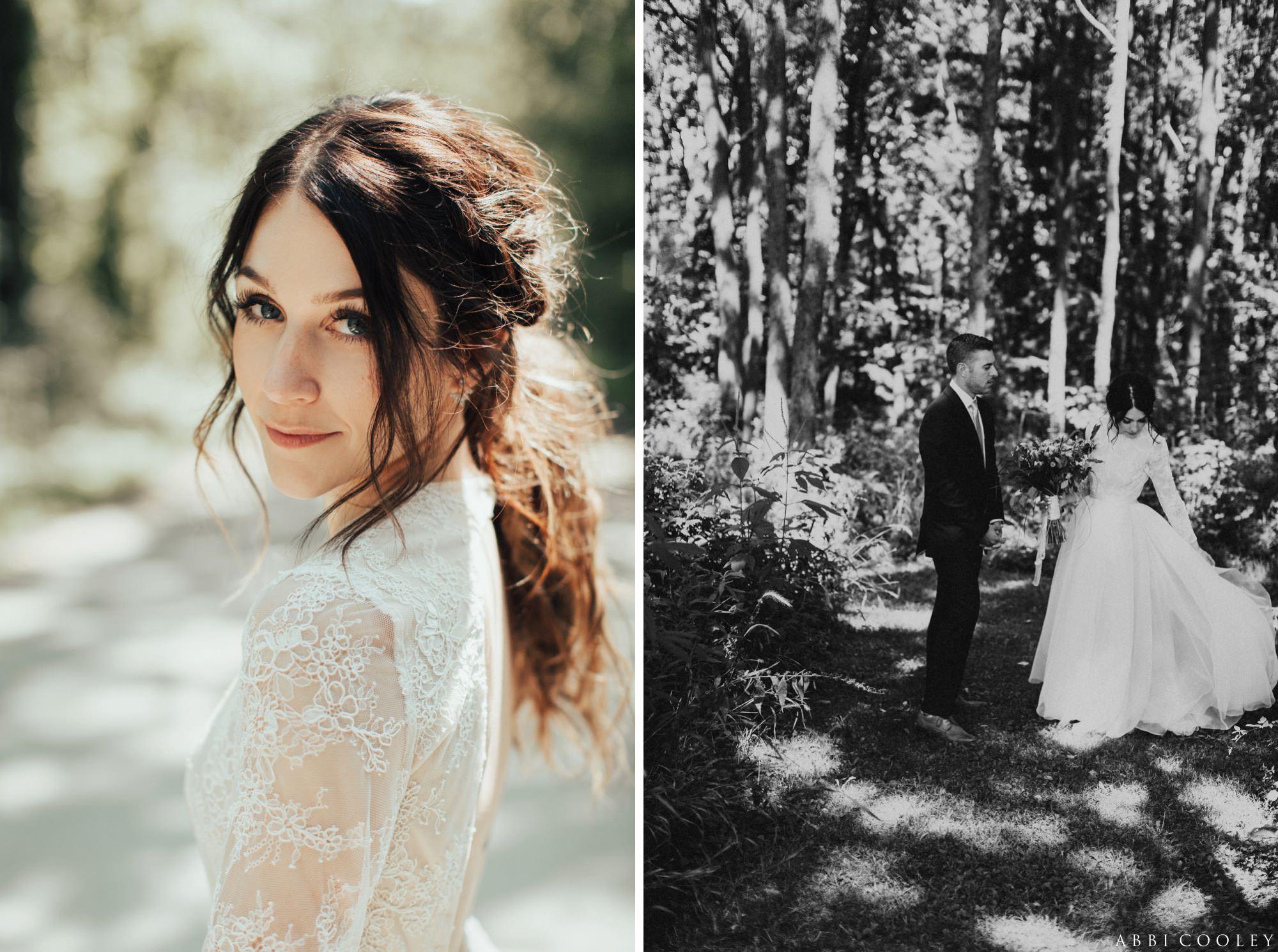 ponytail bride hairstyles Oak Hill Farms Wedding