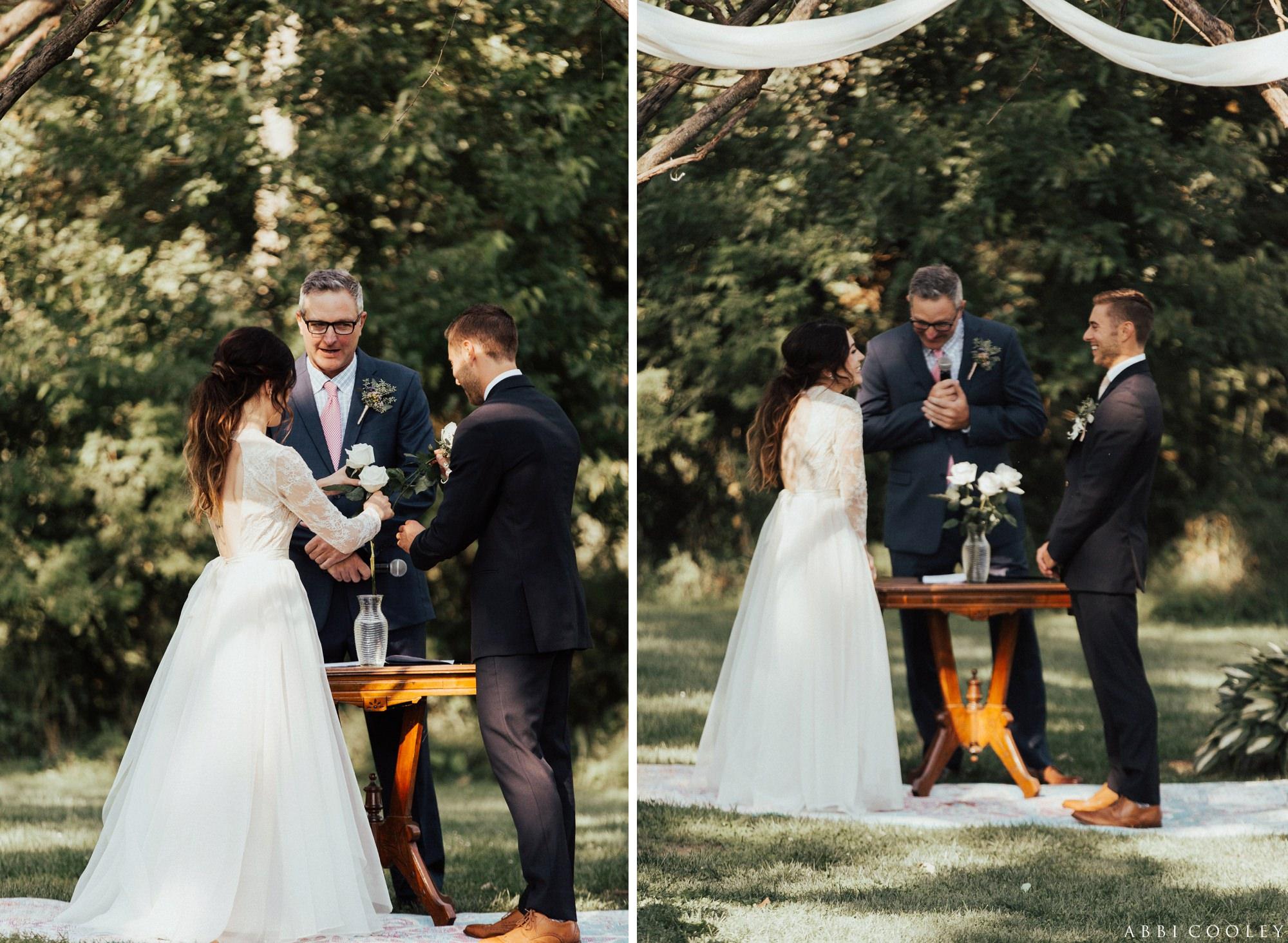 wedding officiant Oak Hill Farms Wedding