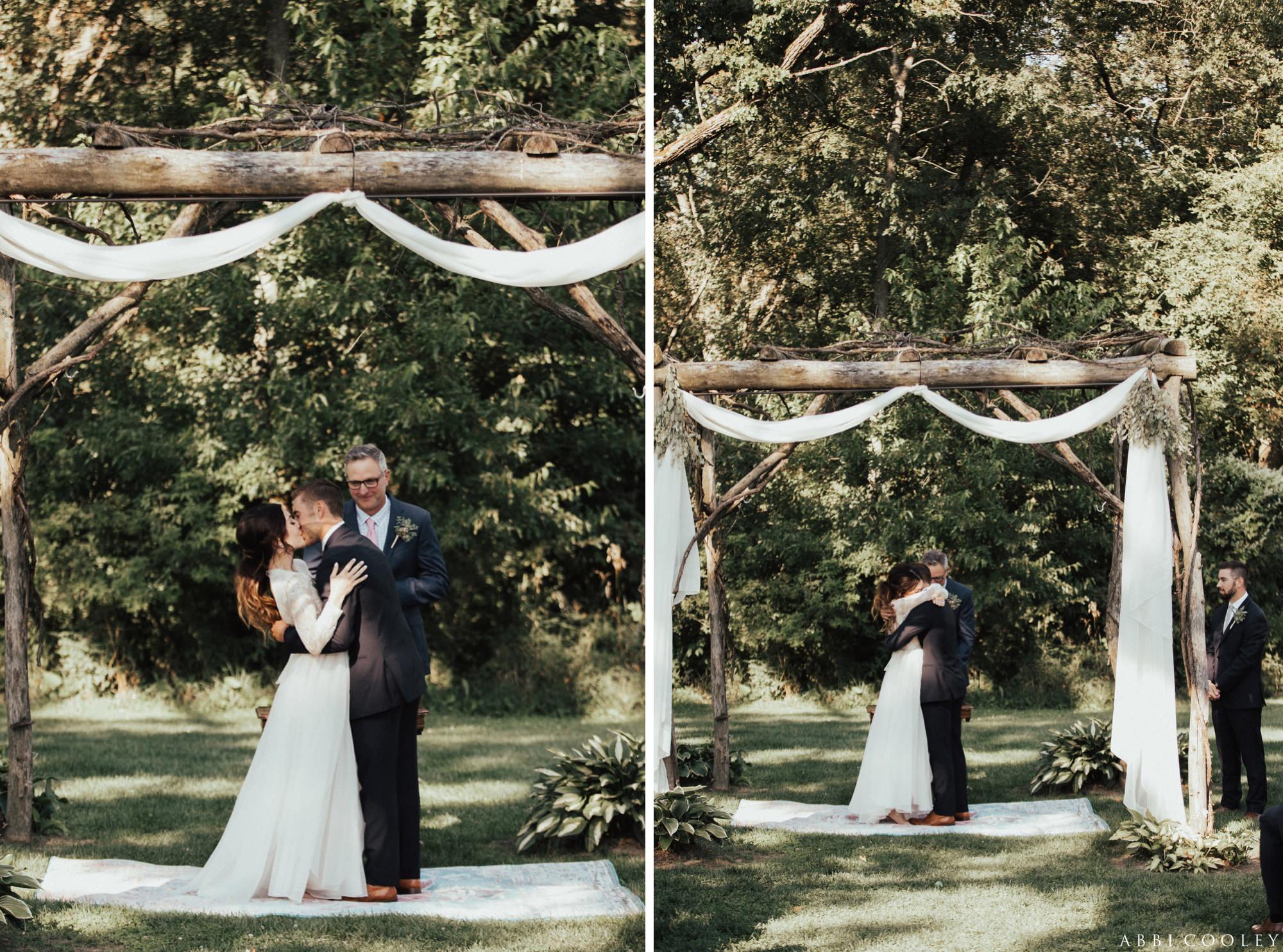Wedding altar Oak Hill Farms Wedding