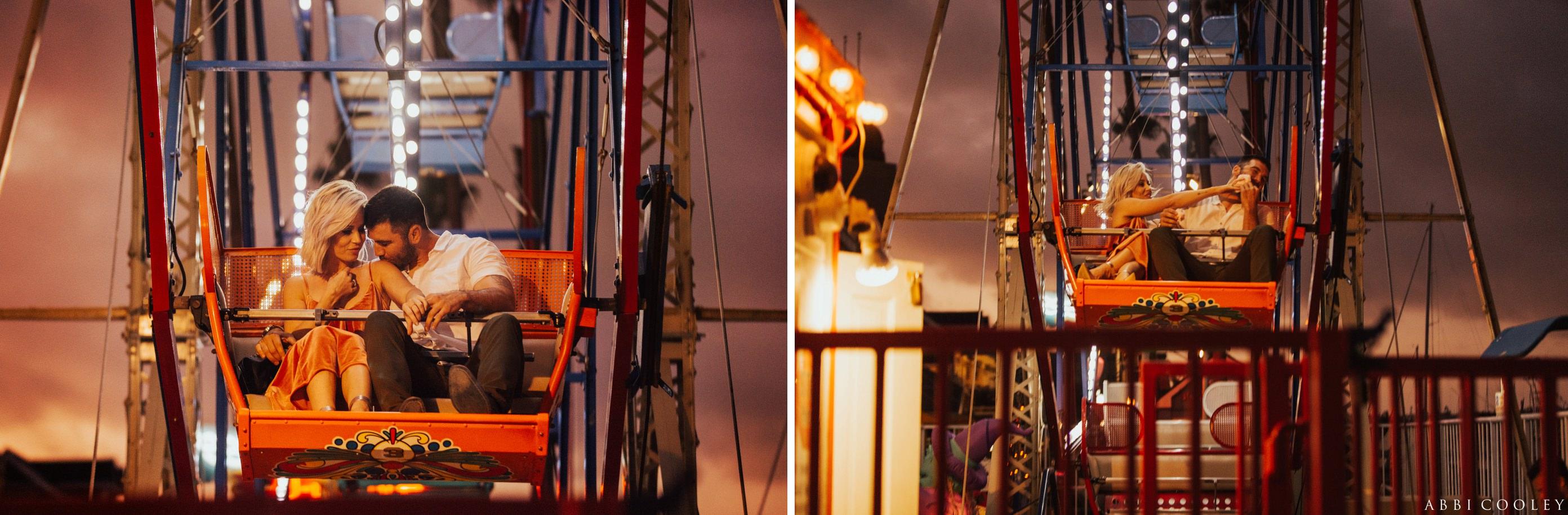 Ferris wheel engagement photos Balboa Island Engagement Shoot