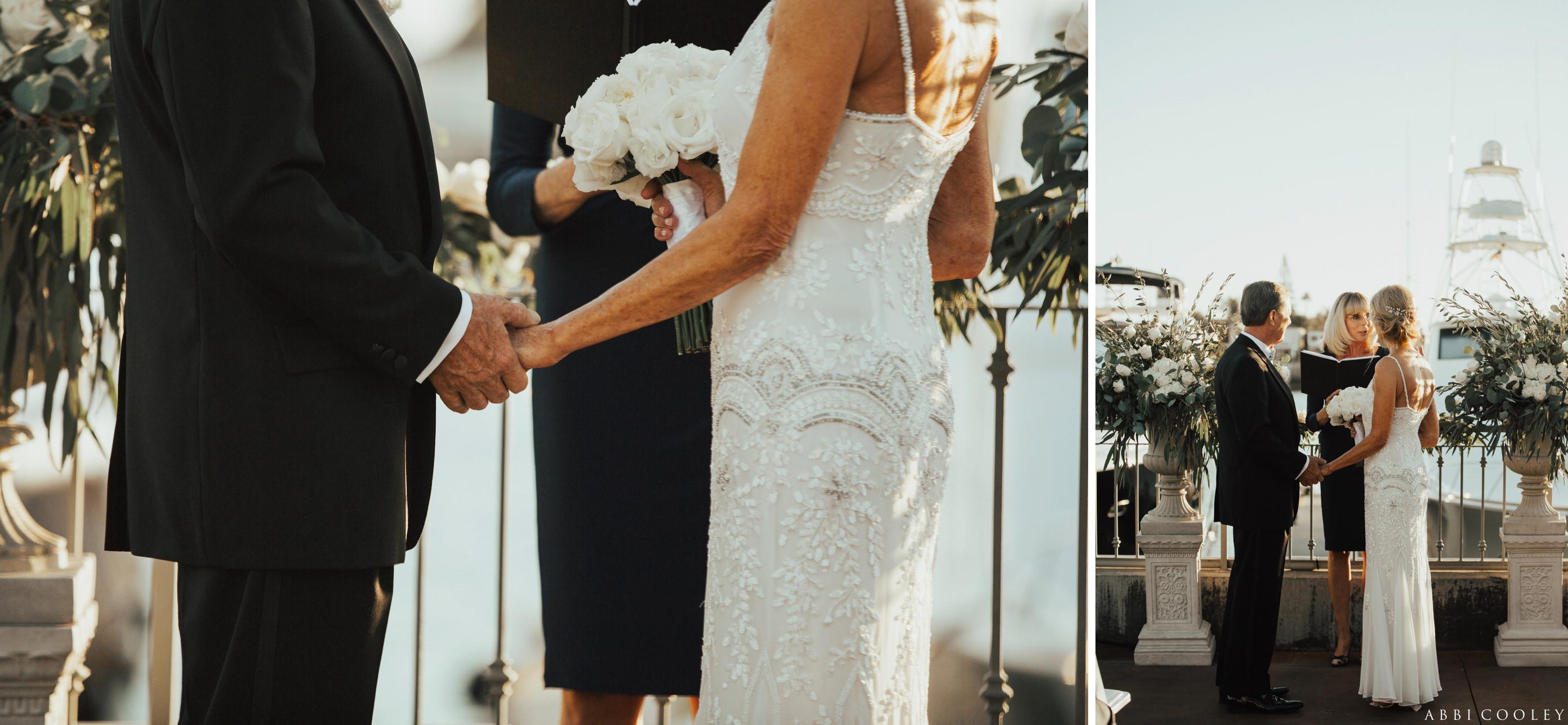 beaded wedding dress Balboa Bay Club Wedding