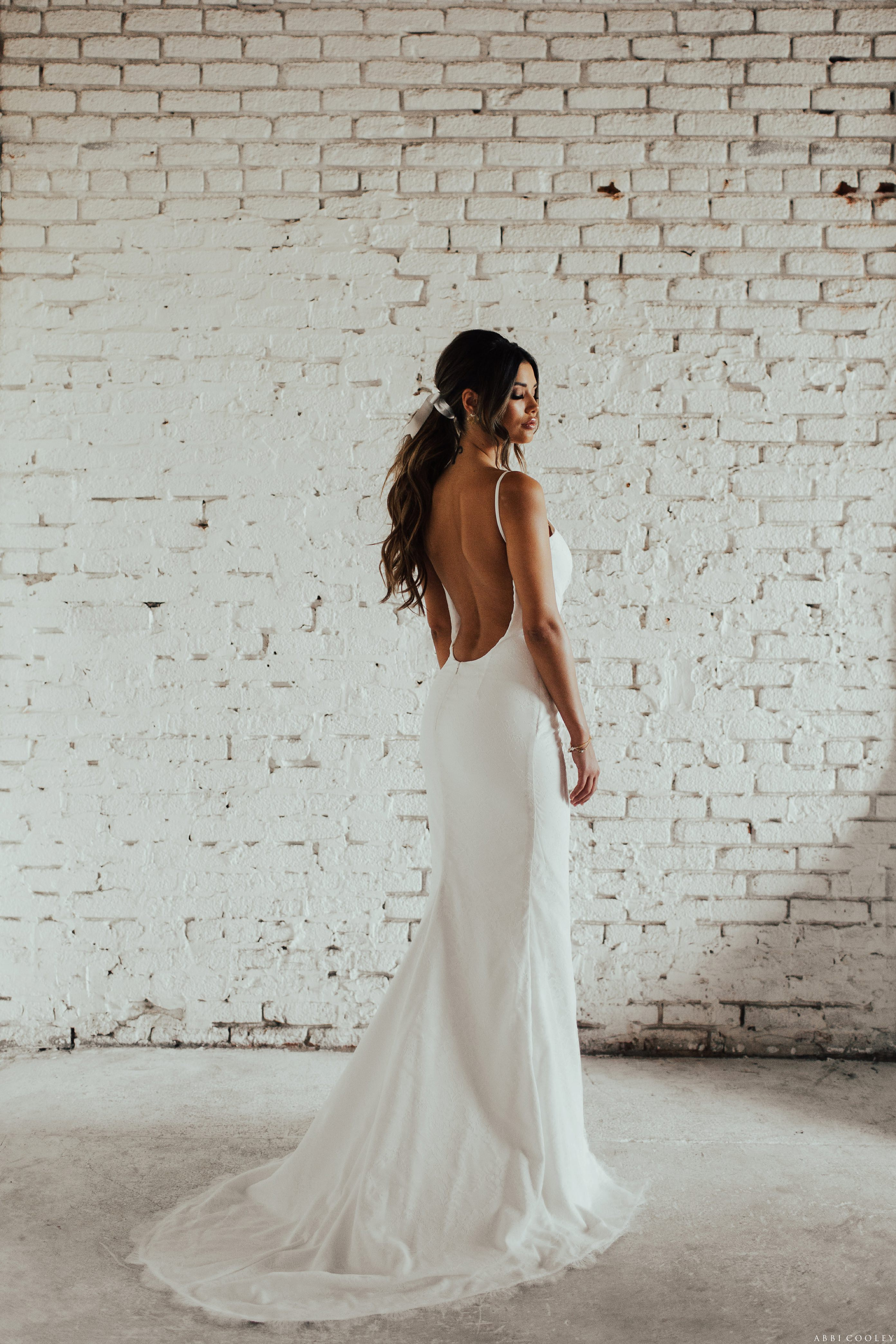 pony tail bride hairstyle Katie May 2017 Lookbook