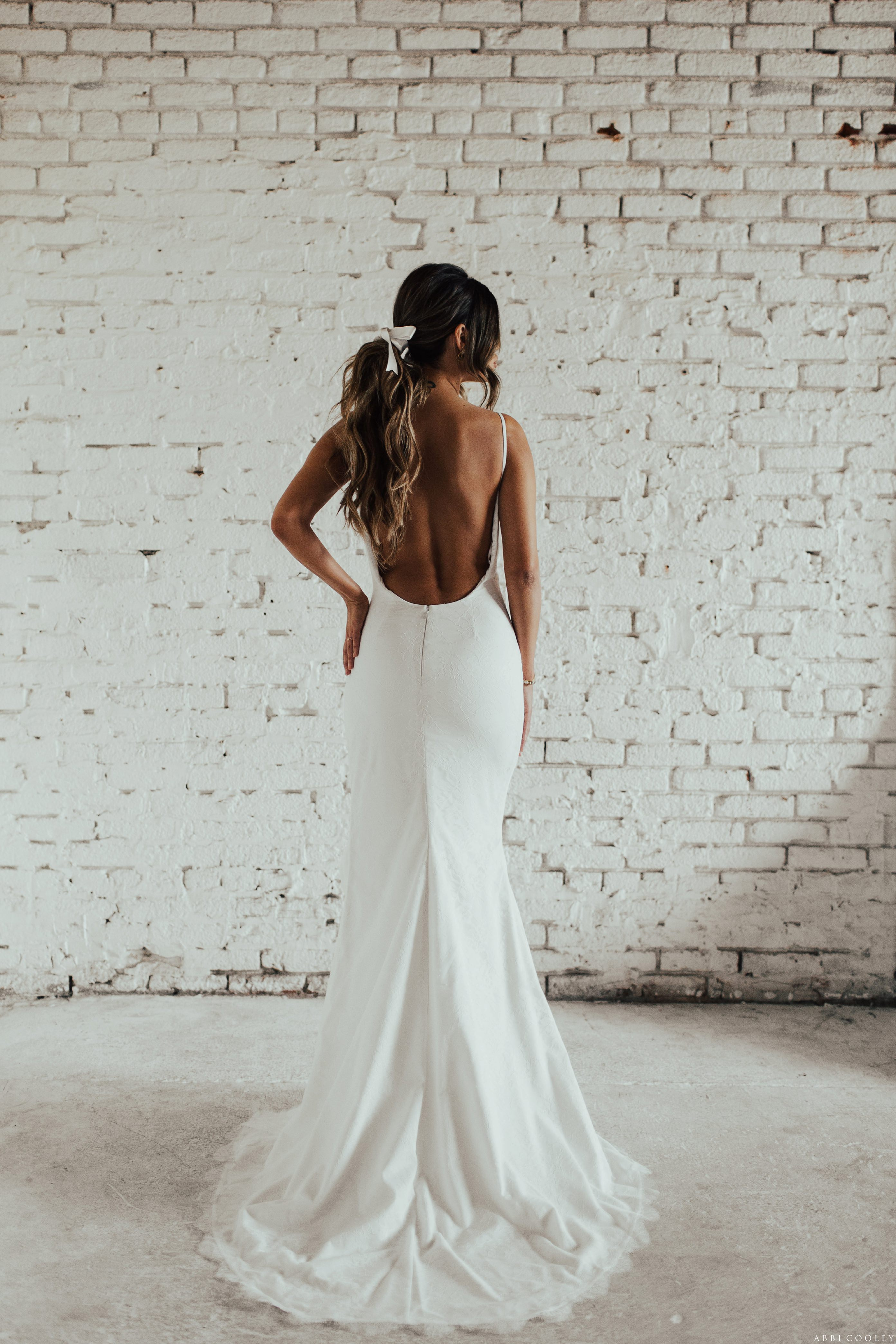 backless wedding gown Katie May 2017 Lookbook