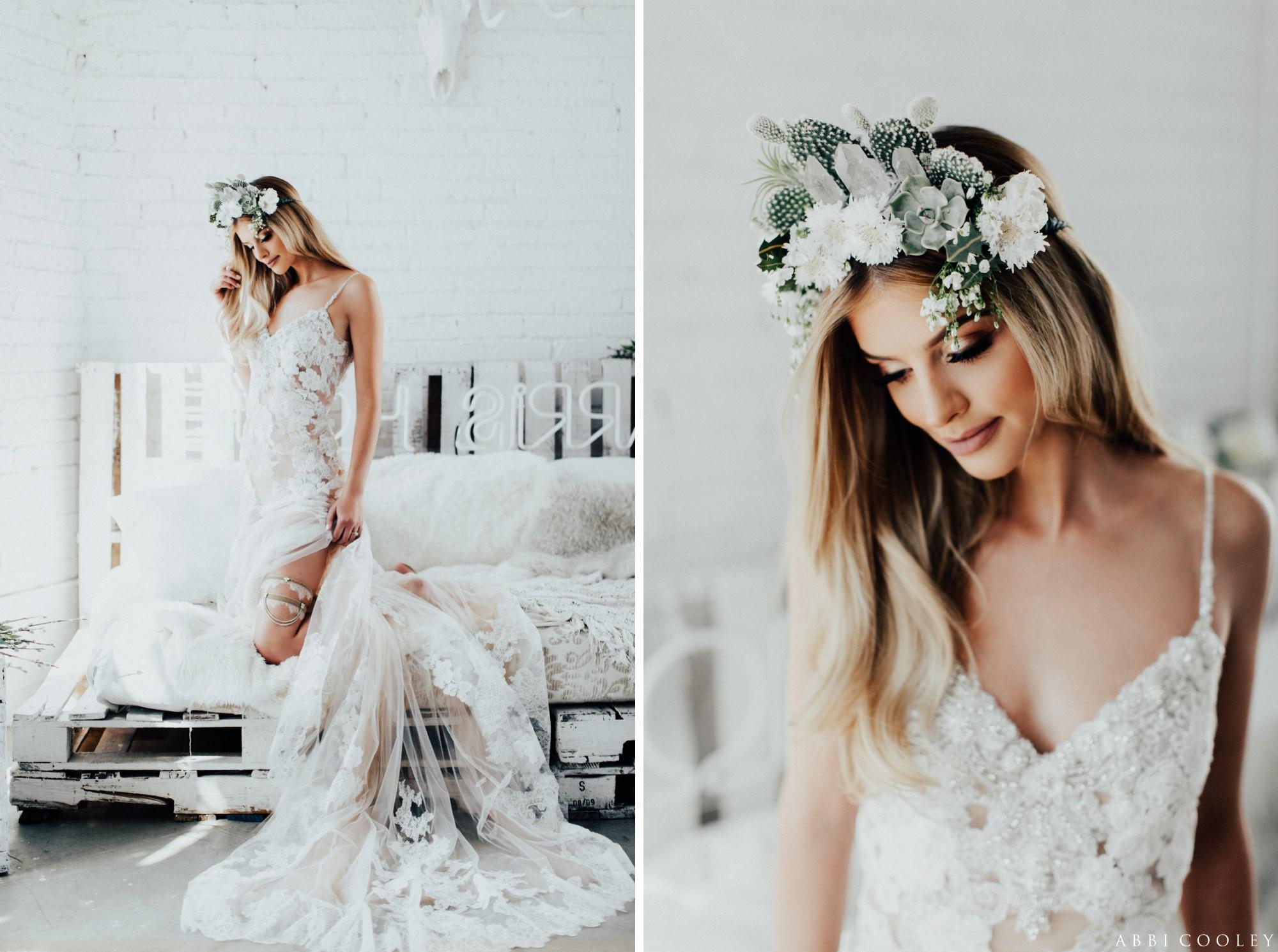 floral bridal head piece The Veiled Beauty 2017 Lookbook