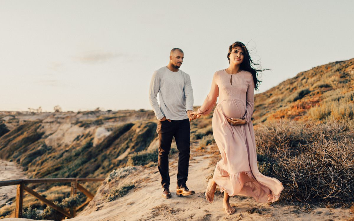 NEWPORT BEACH MATERNITY PHOTOS MARISA + JERMAIN