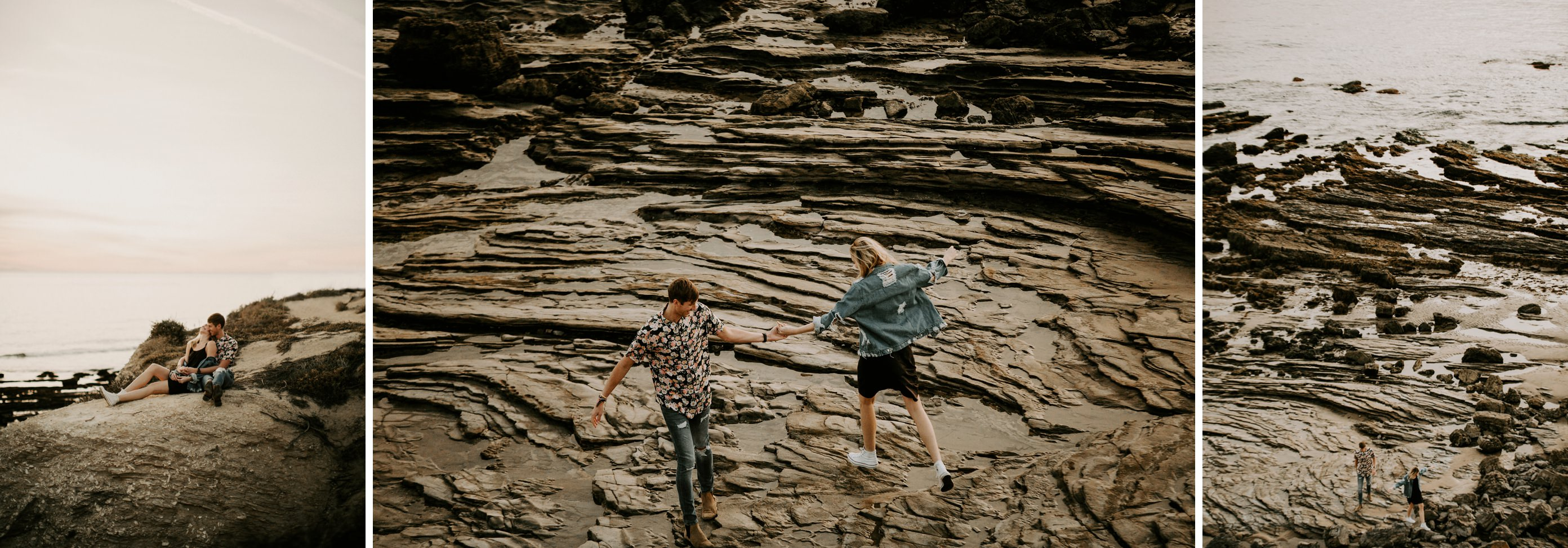 beach cliffs engagement shoot Southern California Engagement Shoot