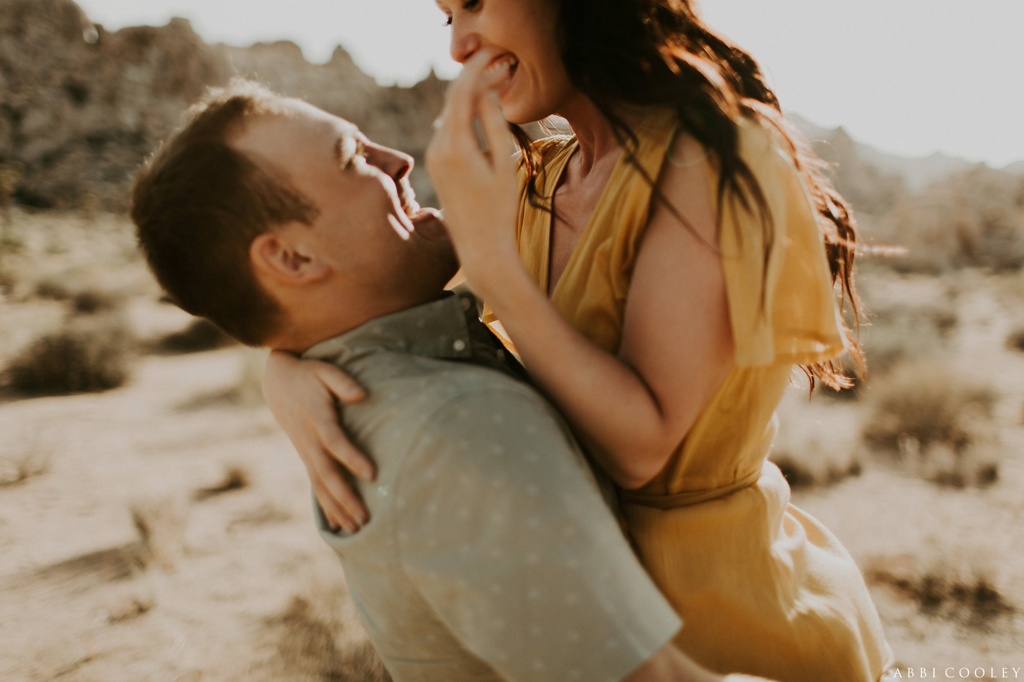 warm tones engagement photos Joshua Tree California Engagement || Abbi Cooley