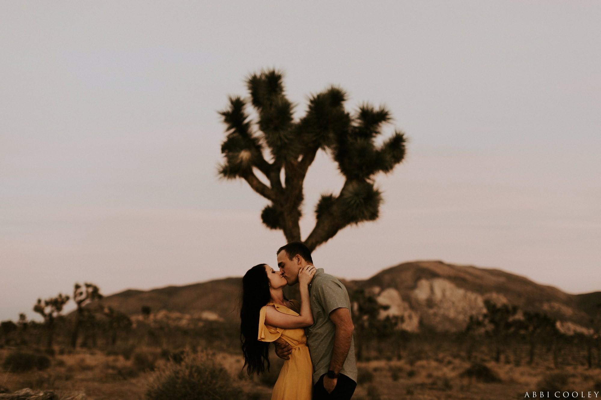 Joshua tree Joshua Tree California Engagement || Abbi Cooley