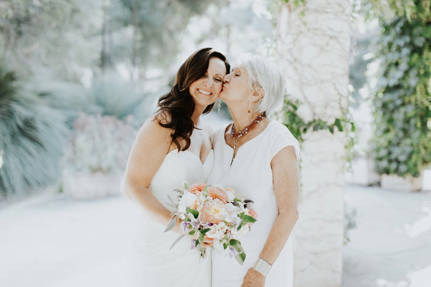 Mother and bride shot