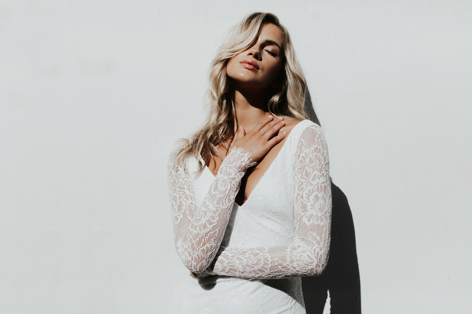 lace sleeves wedding dress Katie May Crave You Collection || Abbi Cooley