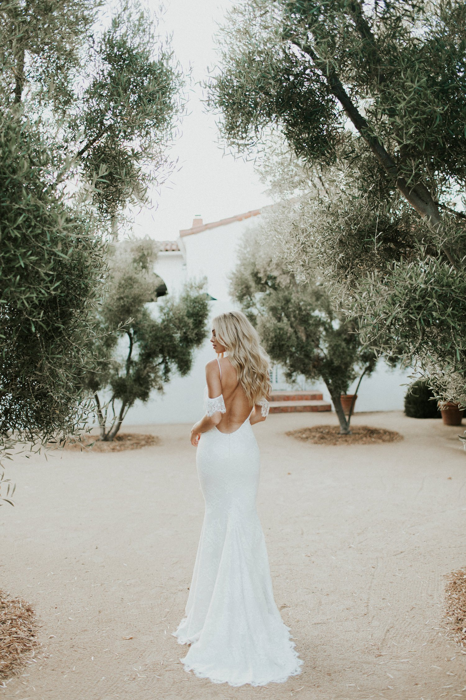 backless off the shoulder wedding dress Katie May Crave You Collection || Abbi Cooley