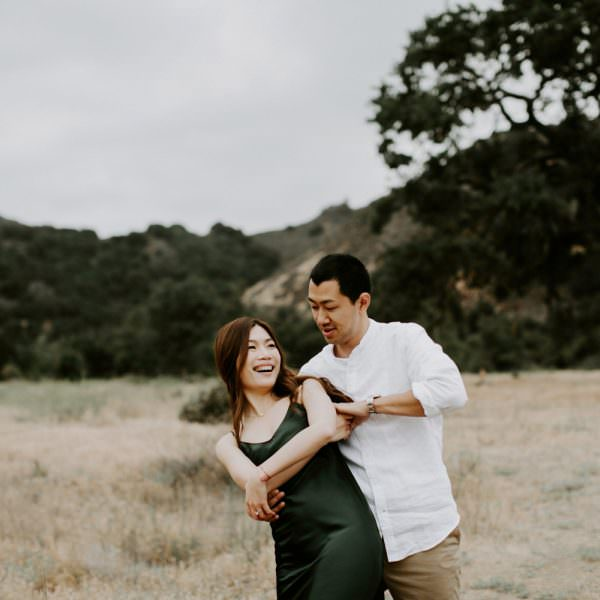 STEPHIE + CHARLES MALIBU CREEK PARK ENGAGEMENTS