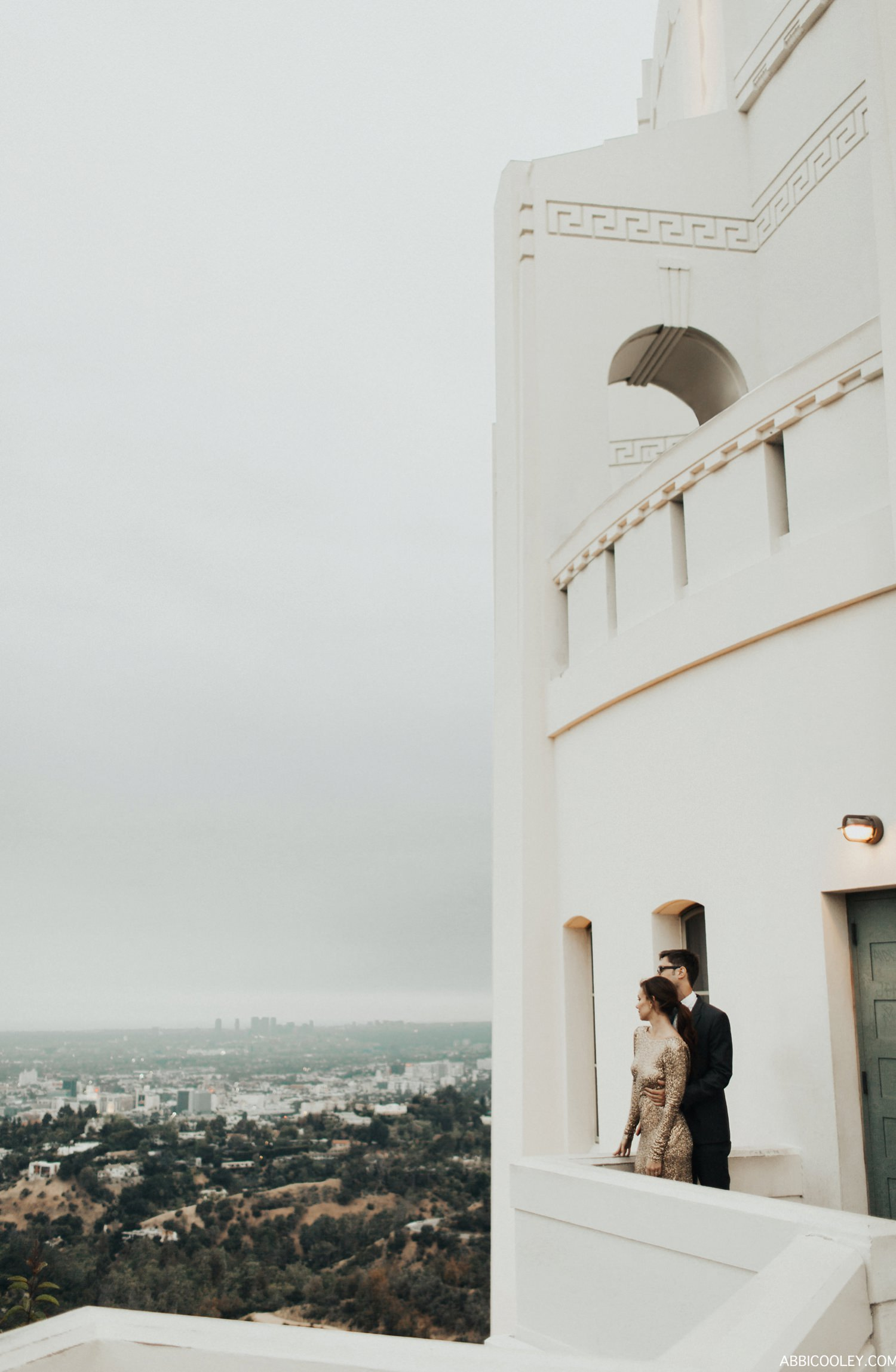 Observatory engagement shoot Griffith Observatory Engagement || Abbi Cooley