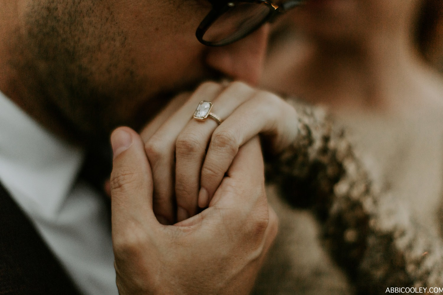 engagement ring shot Griffith Observatory Engagement || Abbi Cooley