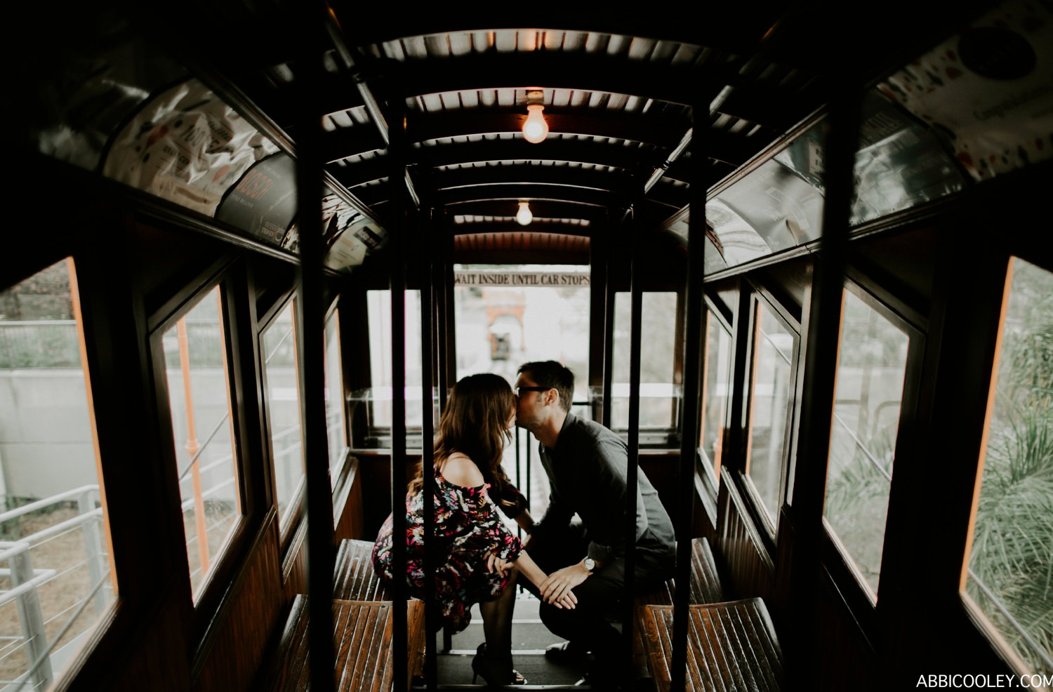 los angeles tram Griffith Observatory Engagement || Abbi Cooley