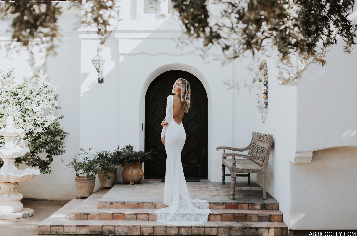 long sleeved backless wedding dress Katie May Crave You Collection || Abbi Cooley
