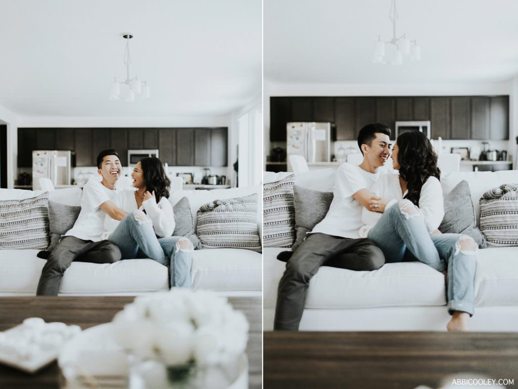 In home engagement session Costa Mesa In Home Session || Abbi Cooley