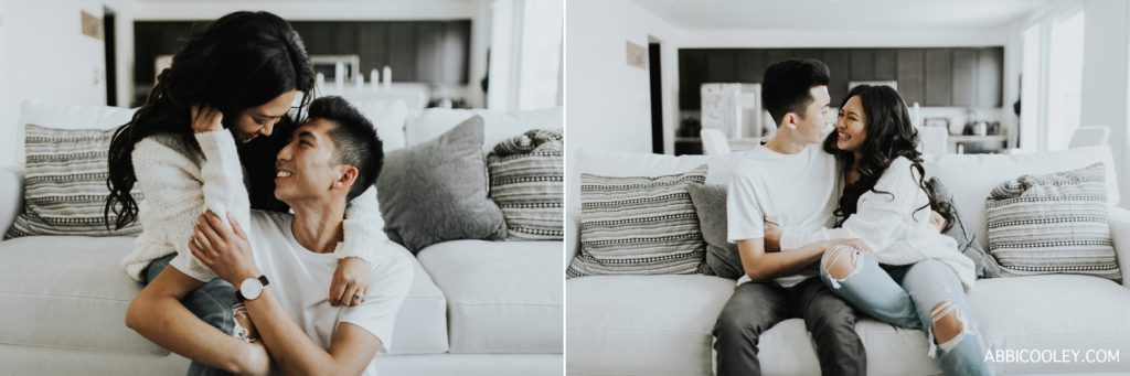 mens watch engagement shoot Costa Mesa In Home Session || Abbi Cooley
