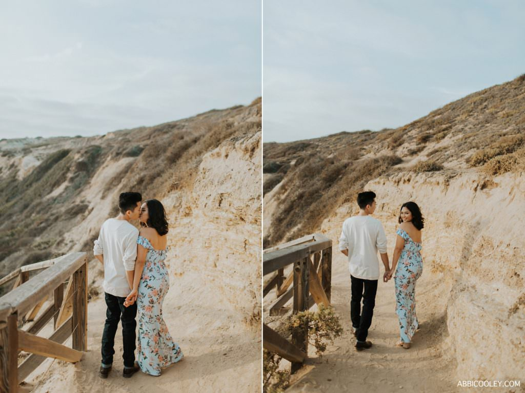 maxi dress engagement photos Costa Mesa In Home Session || Abbi Cooley