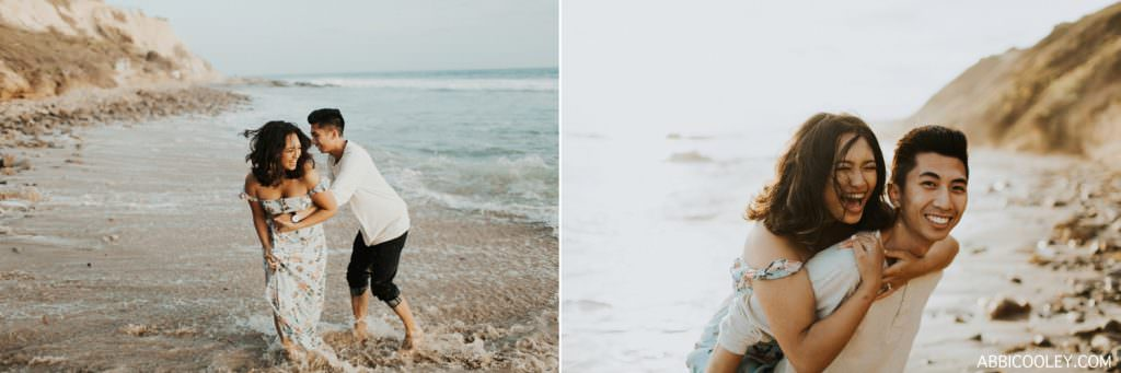 engagement photos in the water Costa Mesa In Home Session || Abbi Cooley
