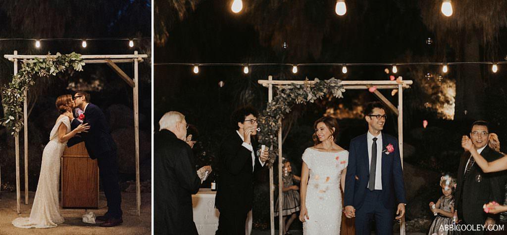 sequin wedding gown The Living Desert Wedding