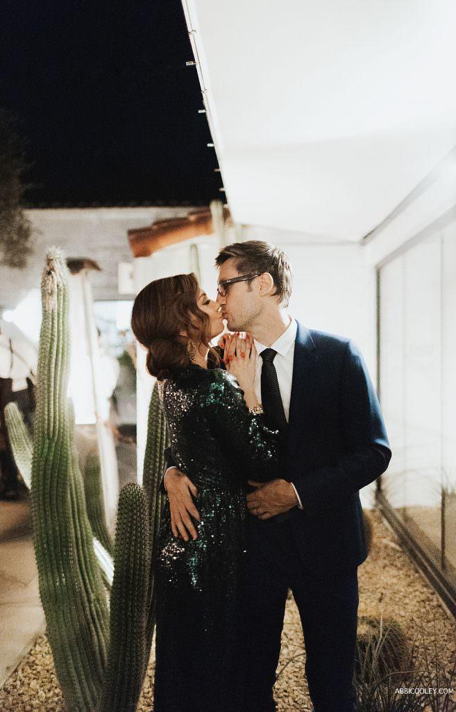 Sexy green reception dress The Living Desert Wedding