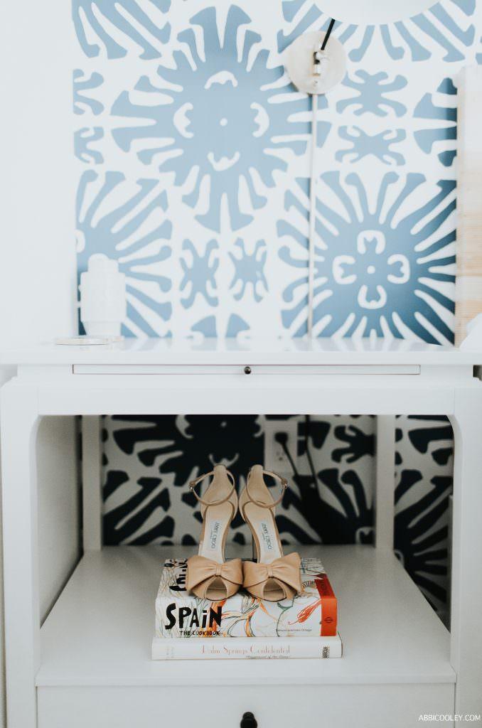 Jimmy Choo wedding shoe details The Living Desert Wedding || Abbi Cooley