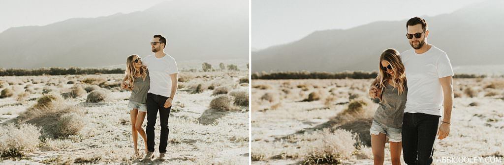 engagement photo outfit ideas Palm Springs Engagement Shoot || Abbi Cooley