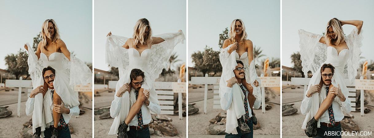 boho wedding dress lace shawl Borrego Springs Desert Elopement || Abbi Cooley