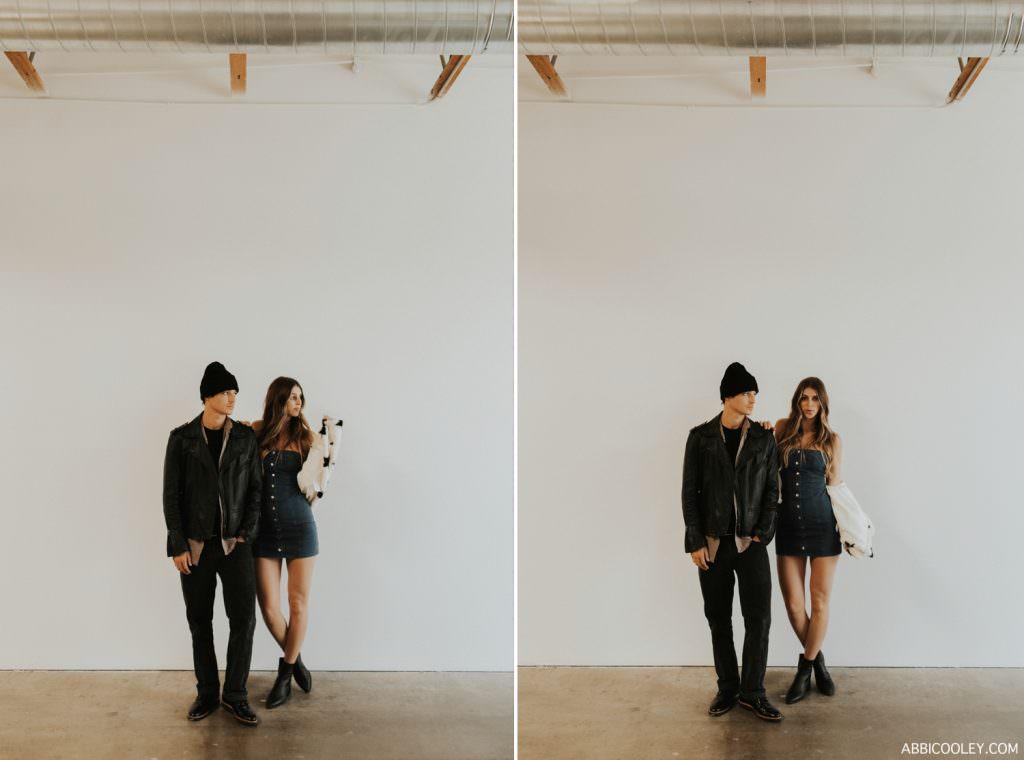 studio couples photoshoot Studio Engagement Photos